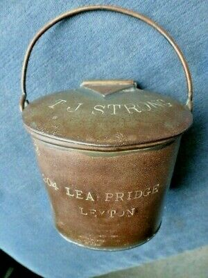 w c.1895 to 1910 MILK STANDARD CAN PAIL made by DAIRY OUTFIT KINGS CROSS LONDON