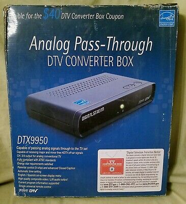 New Digital Stream Analog Pass-Through Dtv Converter Box Dtx9950