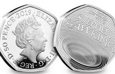 2019 BUNC Stephen Hawking Brilliant Uncirculated Certified 50p Fifty Pence Coin