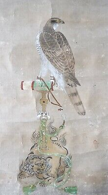 Antique Japanese Hanging Scroll Painting of Eagle Hawk - Kano School