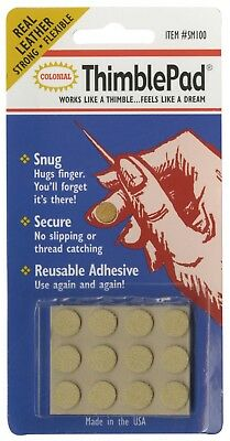 ThimblePad Leather Adhesive Thimble Sewing Quilt Notion