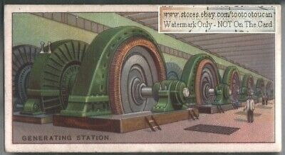 Canadian Niagra Falls Electrical Generating Station 90+ Y/O Ad Trade Card