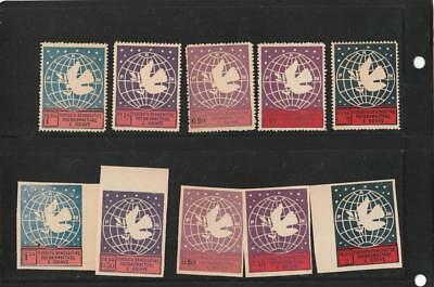 Albania - Complete International Womens Congress 2 sets Perf and Imperf MNH