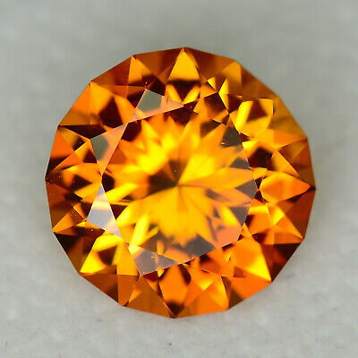 CUSTOM CUT - 3.15ct - ORANGE CITRINE - BRAZIL - WATCH THE VIDEO