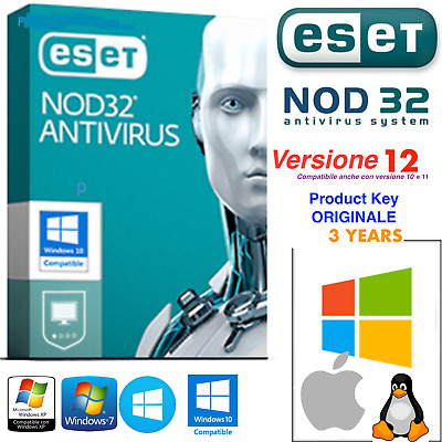 🔥 ESET NOD32 Antivirus 2019  • Licenza fino al 2021 - 3 PC• Product Key 3 Years