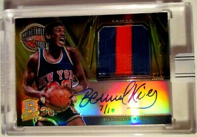 '15/16 Replay BERNARD KING AUTOGRAPH & SICK PATCH GOLD SSP 7/10 NY Knicks LEGEND