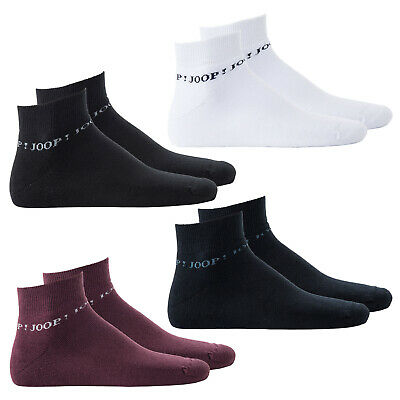 Joop! Men's Trainer Socks 2-pack, Fashion Quarter Terry, Terry Cloth Tennis