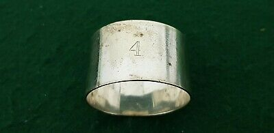 Vintage Silver Plate 44 mm x 25 mm # 4 Napkin Ring