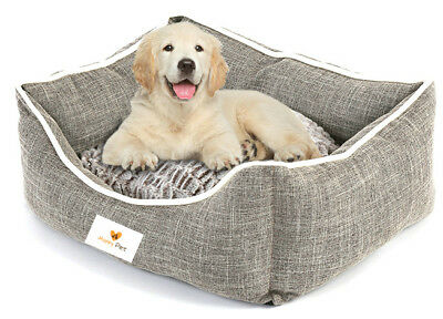 Deep Filled Happy Pet Plush Dog Bed with soft Fleecy Warm Cushion RRP £28.00!