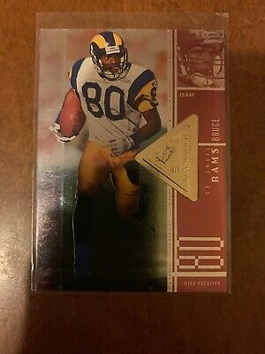 1998 SPx Finite Radiance St. Louis Rams Football Card #104 Isaac Bruce PM /2750