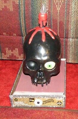 Haunted Living Lighted Talking Skull Candle With Flickering Light