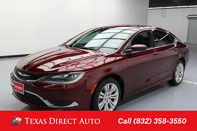 2015 Chrysler 200 Series Limited Texas Direct Auto 2015 Limited Used 2.4L I4 16V Automatic FWD Sedan Premium