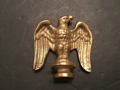 Solid Brass American Eagle Finial Flag Lamp Patriotic Figural