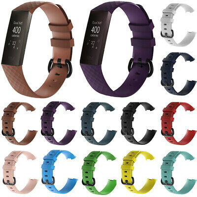 For Fitbit Charge 3 Watch Band Replacement Silicone Breathable Wrist Strap
