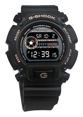 Casio DW9052GBX-1A4 G-Shock Grey Digital Dial Black Resin Band Watch NEW