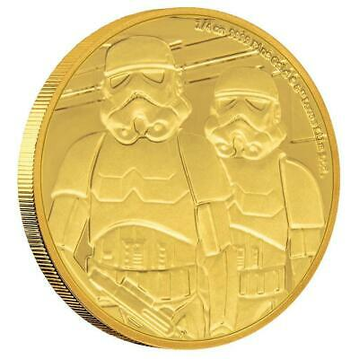 2019 - Niue - Star Wars Classic: Stormtrooper 1/4 oz Gold Coin. Mintage 1,000!