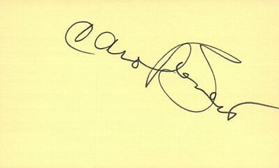 Carol Burnett Actress Comedian Tv Movie Autographed Signed Index Card Entertainment Memorabilia Movies