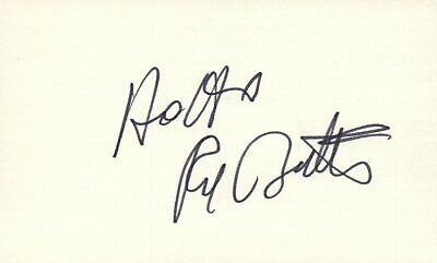 Movies Red Buttons Actor Comedian 1976 Shirley Maclaine Autographed Signed Index Card Entertainment Memorabilia
