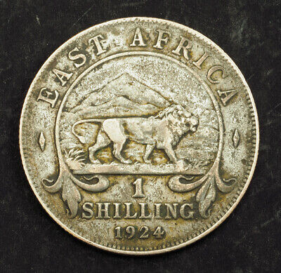 1924, British East Africa (Colony). Copper-Nickel 1 Shilling Coin. F-VF