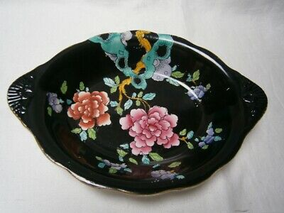 "Antique Wood & Sons England "" Sheraton "" Oriental Handpainted  Design Large Bowl"