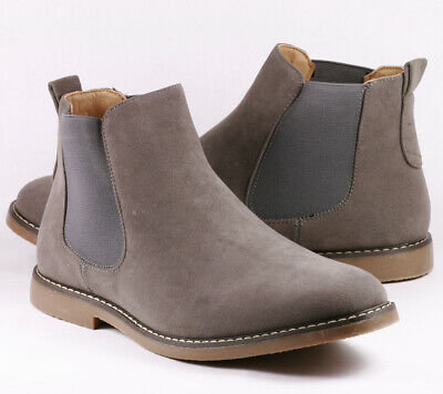 "Gray Men's Casual Fashion Ankle Chelsea Boots "" PREOWNED """