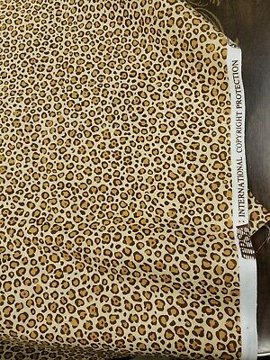 100 % Cotton Fabric Leopard by TPSA  2  YD 17  X45 QUILT SEW CRAFTS ANIMAL PRINT