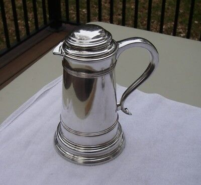 Fine Old TANKARD FORM Insulated Silverplate COCKTAIL PITCHER-Meriden SP Co.