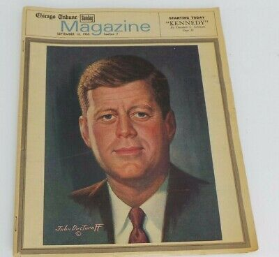 KENNEDY September 12, 1965 CHICAGO TRIBUNE SUNDAY MAGAZINE OLD IN GOOD SHAPE