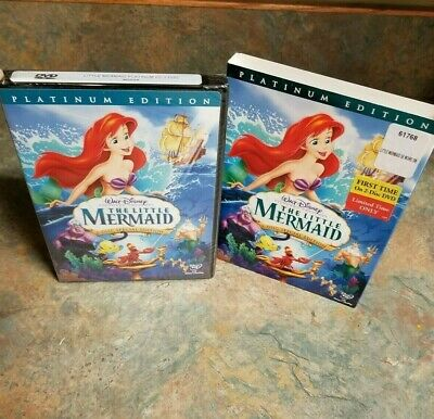 Walt Disney The Little Mermaid (DVD, 2006, 2-Disc Set, Platinum Edition) NEW