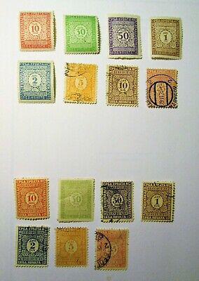 YUGOSLAVIA, 1921-1922,  Lot of (15) POSTAGE DUE Stamps