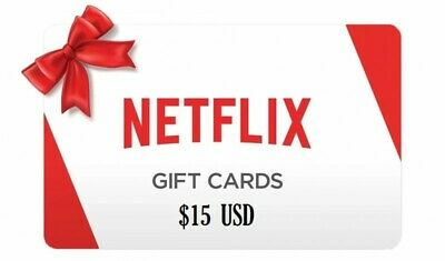 NETFLIX GIFT CARD $15 - ONLY USA ACCOUNT (or use a USA based VPN)