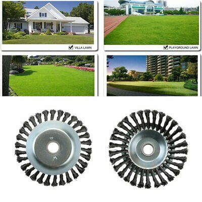 Pro Heavy Duty 200mm Steel Wire Weed Brush Replace Head for Strimmer Garden Tool