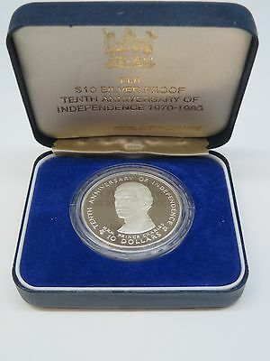 Fiji Silver Proof $10 Coin 1980