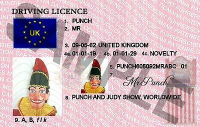 Mr Punch / Punch And Judy Novelty Item (New)