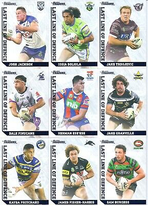 2019 nrl traders last line of defence card you choose your player