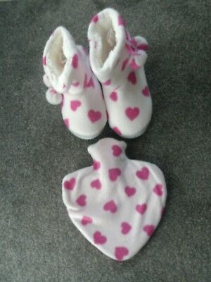 Slipper/booties & matching heart hot water bottle BNWT - great Mothers Day gift