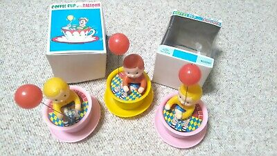 Yone Japan wind up toy Coffee cup mit Balloon mechanical