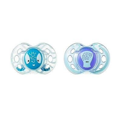 Tommee Tippee 2-Pack 6-18 Months Fun Style Pacifier - Blue/Green