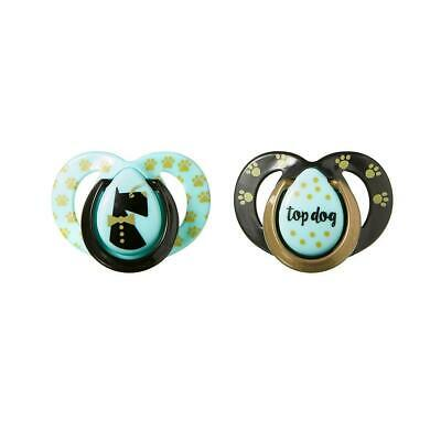 Tommee Tippee MODA Pacifier 2-Pack, 6-18 Months - Blue & Blue Stripes