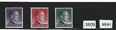 #3805   Complete 1943 MNH stamp set / German occupation / Adolph Hitler / Poland