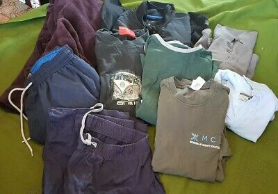 Huge Bundle men's clothes dressing gown T -shirts jumper shirt size M lot 11A