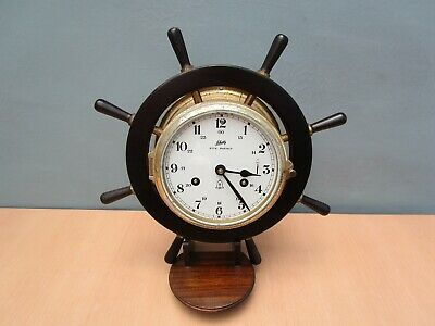Vintage German Schatz Royal Mariner Ships Wheel Clock - No Key