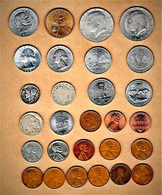 U.S. collectors lot(25+ coins) w/ 1897 and up + two (2)  .900 silver coins