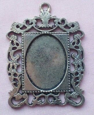 Dolls House, Single Antique Silver Finish Mirror/photo Frame