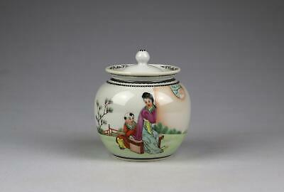 Vintage 20thC Chinese PRC Famille Rose Ovoid Vase / Ginger Jar With Lid