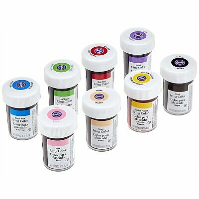 Wilton Icing Colour Gel Paste Set of 8 Colours - Loose (not pre-packed)