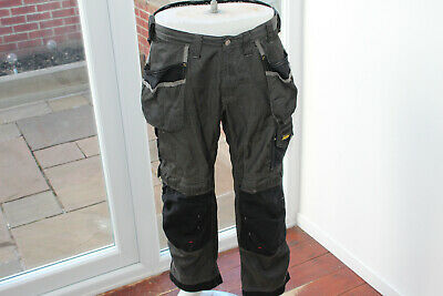 100 Snickers W36 L30 workwear Grey work Trousers Wear Pants Holster Pockets 36S