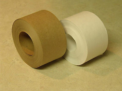 100 Foot COMBO PACK Water Activated WHITE KRAFT & TAN KRAFT PAPER TAPE