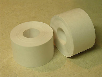 "6 ROLLS - 2"" x 100 Feet Each - Water Activated WHITE KRAFT PAPER TAPE"