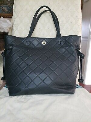 398a8028b633 Tory Burch Georgia Quilted Slouchy Leather Tote Bag Handbag Purse Gift Bag!